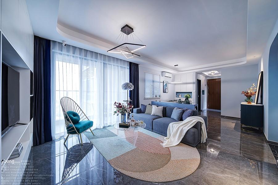 """""""雾霾蓝""""轻奢样板房,一个有格调又舒适的家!"""